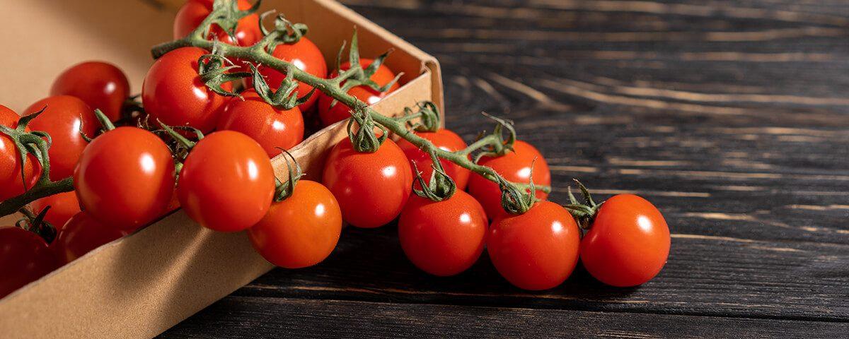 Pudełko z pomidorami - Opakowania wielokrotnego użytku z kartonu