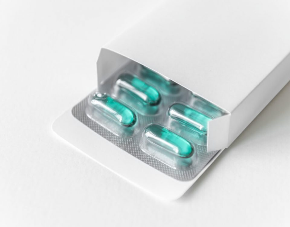 Opakowania z tektury w branży farmaceutycznej - pudełko z tabletkami