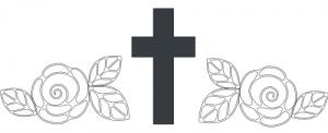 Krżyż, kwiaty, ostatnie pożegnanie