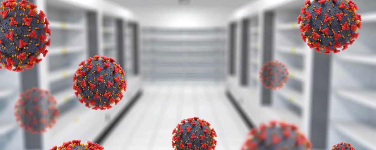 Koronawirus wizualizacja 3D. Jak koronawirus i wiosenny lock-down wpłynął na branżę opakowań z tektury