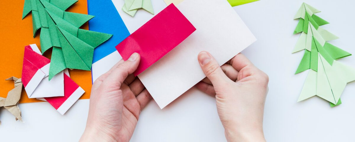 Składanie papieru wg Origami. Ozdoby świąteczne z papieru i tektury? Czemu nie.