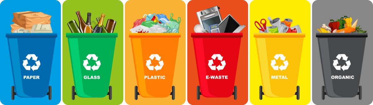 Kolorowe pojemniki na odpady. Czy wiesz, jak segregować śmieci?