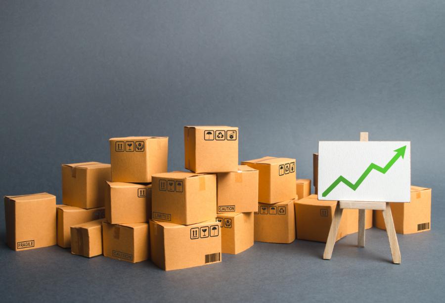 Pudełka, grafika wzrostu. Wzrost cen papieru i tektury - z czego to wynika?